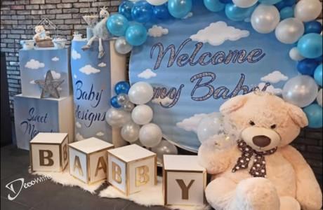 קוביות פי וי סי  BABY -עיצוב וצילום - עיצוב BABY - אילת - קוביות פי וי סי עם כיתוב דמוי מראה BABY