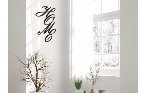 HOME | שילוט דקורטיבי לקיר עם המילה HOME