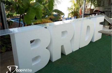 """שולחן BRIDE קלקר גובה 100 ס""""מ עובי 25 ס""""מ"""