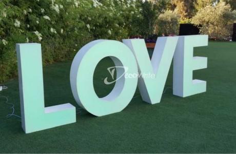 LOVE אותיות מוארות LED RGB