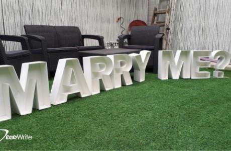 "MARRY ME  למילוי פרחים - גובה 40 ס""מ"