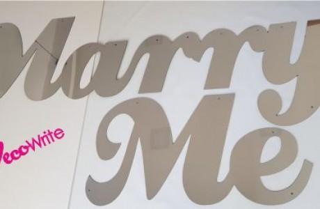 """MARRY ME לוקובונד דמוי מראה כסף גב מתכת עובי 3 מ""""מ"""