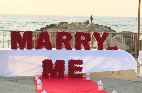 "MARRY ME  אותיות PVC בנויות - גובה 50 ס""מ (צילום-הפקות נישואין My Event)"