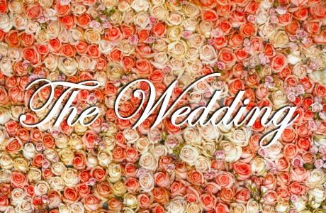 The Wedding לתלייה לעיצוב קיר פרחים