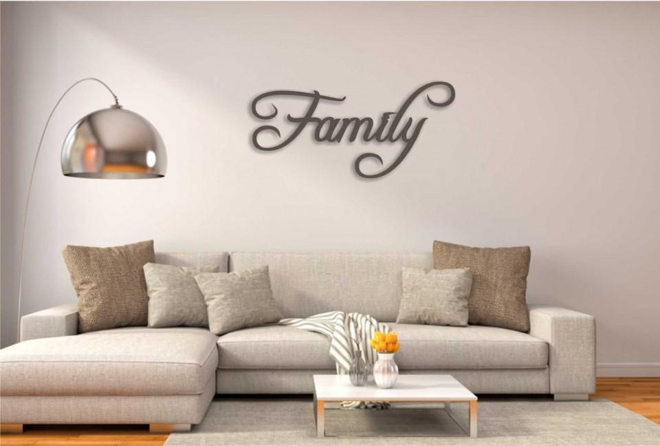 שלט Family | ** התמונה להמחשה בגודל המוצר הגדול