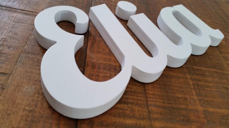 אותיות מעוצבות באנגלית | אותיות בכתב יד PVC